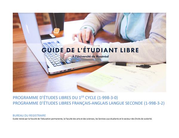 Etudes Libres Bureau Du Registraire Universite De Montreal